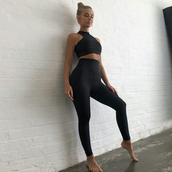 Sports Wear For Women 2 Piece Set Yoga set Gym Clothing Sports bra and High Waist Running Leggings Gym Workout Sports Wear