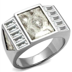TK2784 - Stainless Steel Ring No Plating Men AAA Grade CZ Clear
