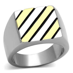 TK952 - Stainless Steel Ring Two-Tone IP Gold (Ion Plating) Men No Stone No Stone