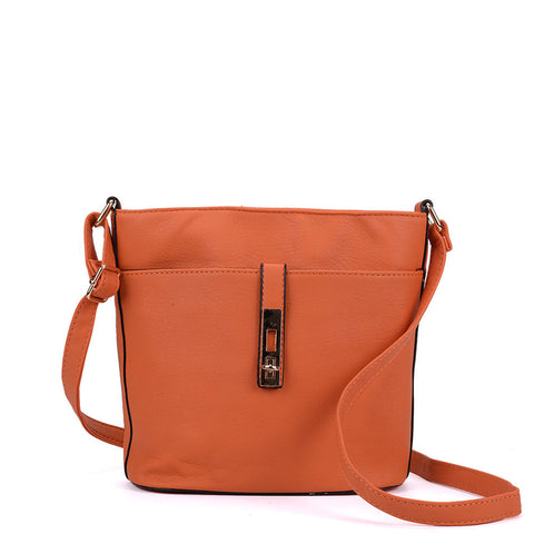 VK2036-1 Orange - Lock Designer Cross Body Bag
