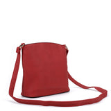 VK2042-1 Red - Cross Body Bag With Metal Bar Detail