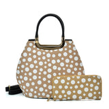 VK2127 KHKAI - Simple Set Bag With Dot And Special Handle Design