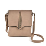 VK5267 Grey - Metal Lock Decoration Cross Body Bag