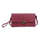 VK5306 Red - Fashion Women Simple Solid Handbag