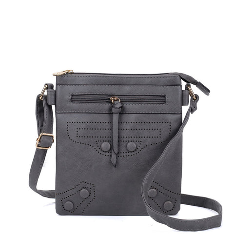VK5347 Grey - Across Body Bag With Strap