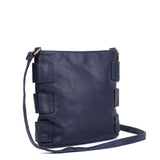 VK5349 Navy - Messenger Bag With Zip Front Detail