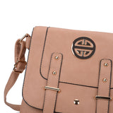 VK5350 Apricot - Metal Detail Crossbody Flap Bag