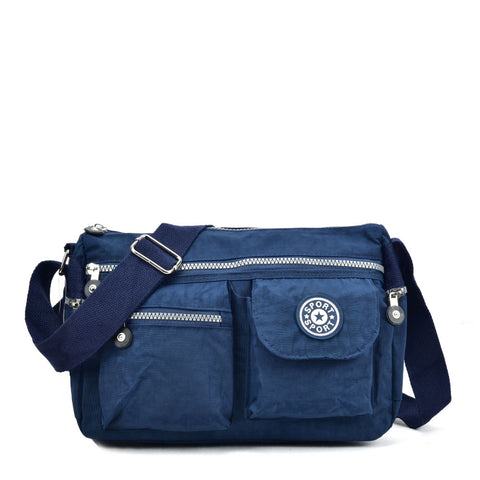 VK5414 Dark Blue - Sports Waist Cross Body Bag