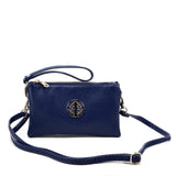 VK5530 Blue - Cute Crossbody Bag With Metal detail