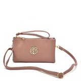 VK5530 Pink - Cute Crossbody Bag With Metal detail