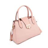 VK5536 PINK - Simple Solid Color Handbag