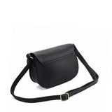 VK5539 BLACK - Saddle Bag With Buckle Design