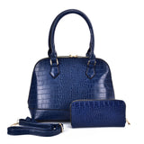 VK5601 BLUE - Pure Color Set Bag With Velvet Ball Decoration