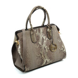 VK5607 KHAKI - Simple Solid Color Tote Bag With Symmetrical Sequins Pattern Design