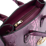 VK5607 PURPLE - Simple Solid Color Tote Bag With Symmetrical Sequins Pattern Design