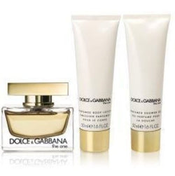 ($100 Value) Dolce & Gabbana The One Perfume Gift Set for Women, 3 Pc