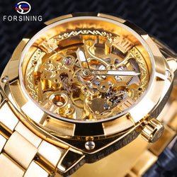 Men  Skeleton Automatic Winding Mechanical Watches