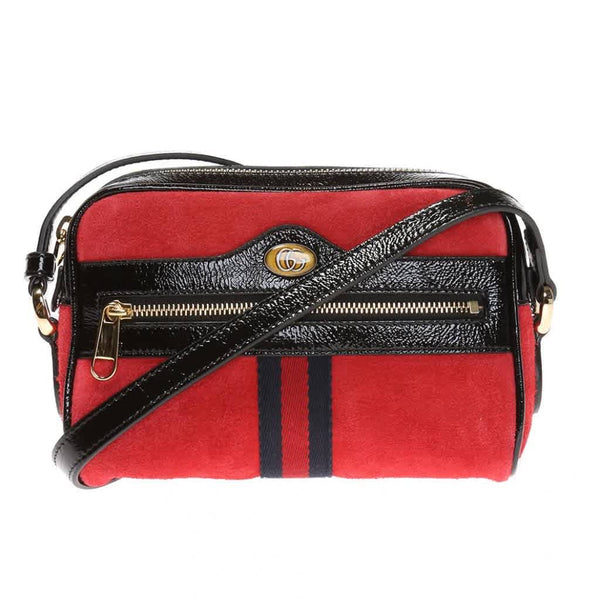 Gucci Ladies Ophidia Shoulder Bag in Red