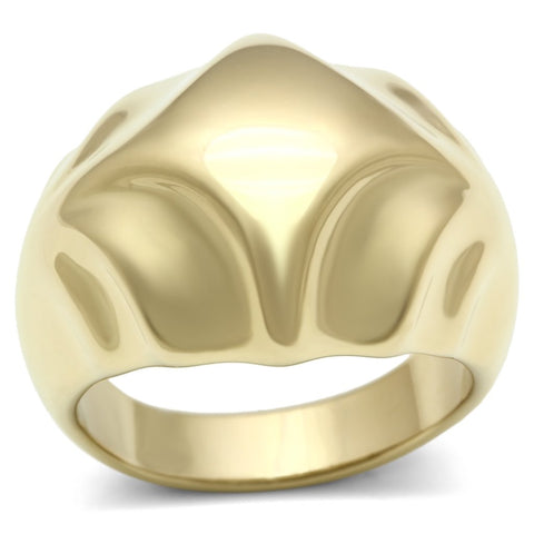 GL327 IP Gold(Ion Plating) Brass Ring with No Stone in No Stone