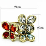 LO2547 Gold Brass Ring with Assorted in Multi Color
