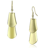LO2747 Matte Gold & Gold Iron Earrings with No Stone in No Stone