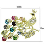 LO2770 Flash Gold White Metal Brooches with Top Grade Crystal in Multi Color