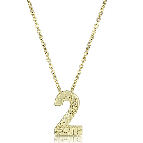 LO3461 Flash Gold Brass Chain Pendant with Top Grade Crystal in Clear