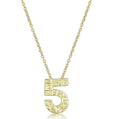 LO3468 Flash Gold Brass Chain Pendant with Top Grade Crystal in Clear
