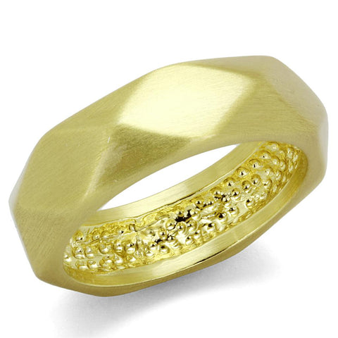 LO3895 Gold & Brush Brass Ring with No Stone in No Stone