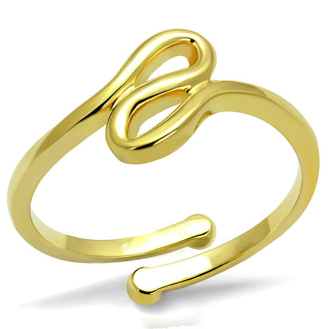 LO4000 Flash Gold Brass Ring with No Stone in No Stone