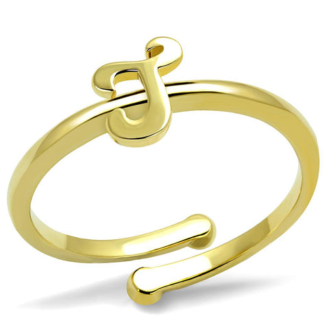 LO4012 Flash Gold Brass Ring with No Stone in No Stone