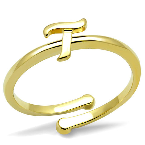 LO4018 Flash Gold Brass Ring with No Stone in No Stone