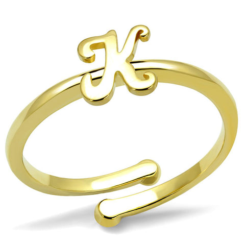 LO4024 Flash Gold Brass Ring with No Stone in No Stone