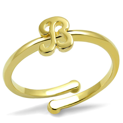 LO4026 Flash Gold Brass Ring with No Stone in No Stone