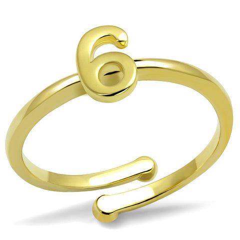 LO4034 Flash Gold Brass Ring with No Stone in No Stone