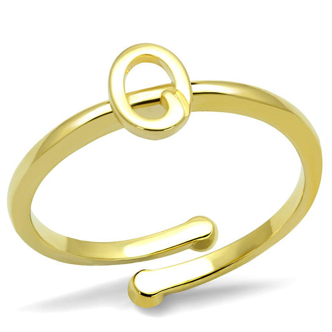 LO4036 Flash Gold Brass Ring with No Stone in No Stone