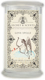 Love spell candle scent