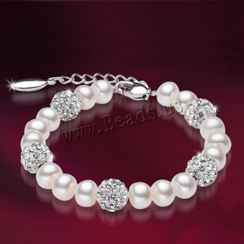 Freshwater 100% Natural Pearl Bracelet White Pearls