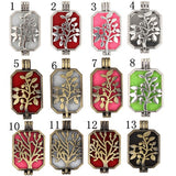 Sliver Plated Life Tree  Locket Pendant Essential Oil Diffuser  Aromatherapy