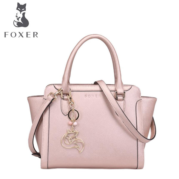 FOXER   genuine superior Cowhide  leather Shoulder handbag