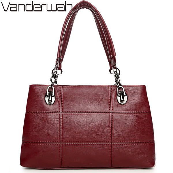 VANDERWAH women Top-handle bags handbags women famous brands female Embroidery