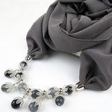 Jzhifiyer chiffon jewelry necklace scarf feminino spring fashion ring shawl