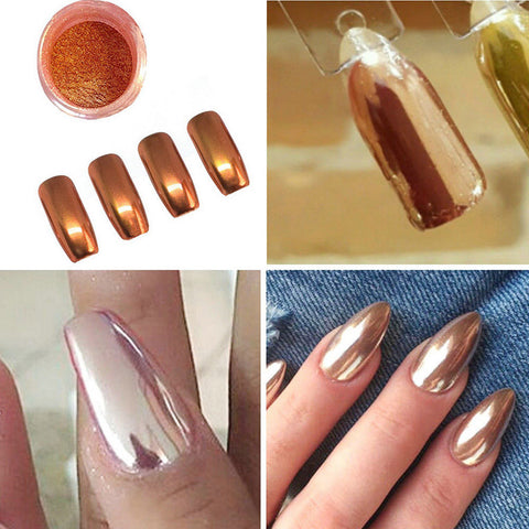 Sexy Rose Gold Nail Mirror Powder Glitter Chrome Powder Art Decoration