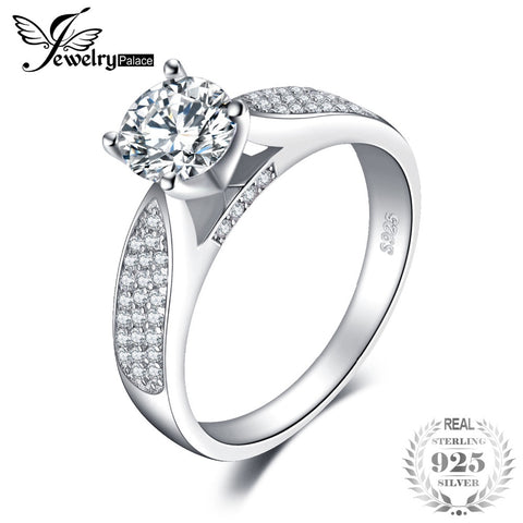 JewelryPalace Fashion Round Cubic Zirconia  Real 925 Sterling Silver Fashion Jewelry