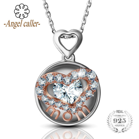 Angel caller 925 sterling silver necklaces love heart mom necklace angel caller 925 sterling silver necklaces love heart pendant necklace mom mozeypictures Choice Image