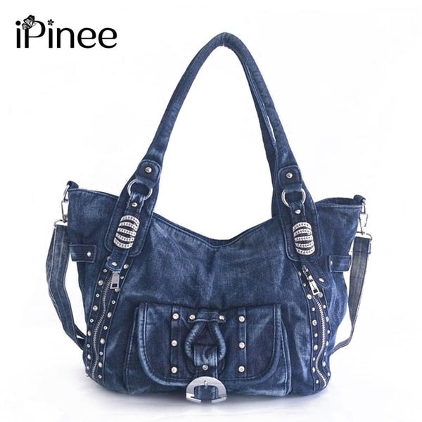 iPinee High Quality Denim Women Handbag