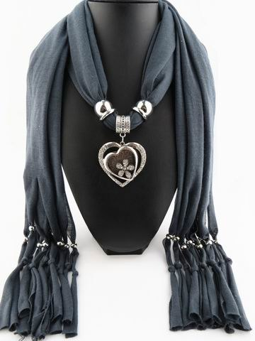 RUNMEIFA Brand new style fashion scarf Heart pendant