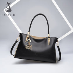 FOXER  Cowhide Leather High Quality Totes