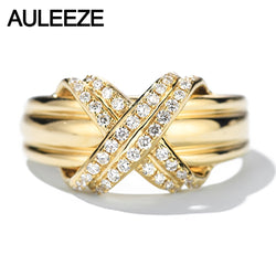 0.24ctt Real Natural Diamond  18k Yellow Gold ring