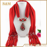 [RUNMEIFA] fashion jewelry crochet scarf woman with bead high quality silk scarf